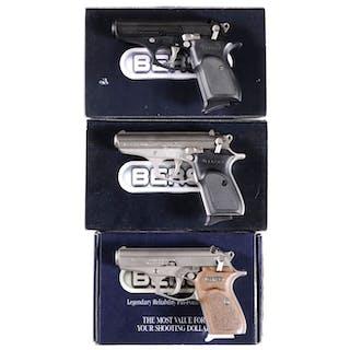 Three Boxed Bersa Semi-Automatic Pistols