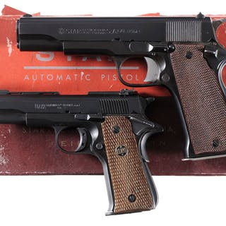 Two Spanish Semi-Automatic Pistols