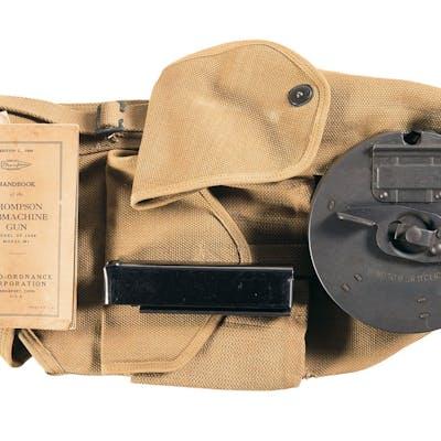 Fine Grouping of Thompson Submachine Gun Accessories   Barnebys