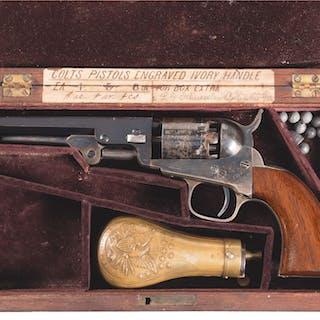 Very Fine Cased Colt Model 1849 Pocket Percussion Revolver