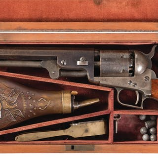 Cased Second Model Colt 1851 Navy Percussion Revolver