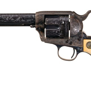 Documented Helfricht Deluxe Factory Engraved Colt SAA Revolver