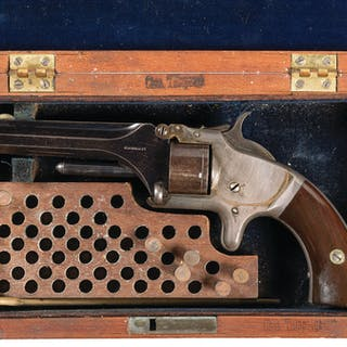 Cased 2nd Quality Marked S&W Model No. 1 2nd Issue Revolver