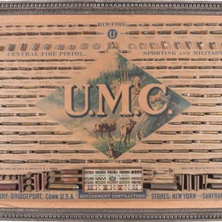 Union Metallic Cartridge Co. Cartridge Display Bullet Board