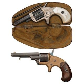 Two Antique Colt Pocket Revolvers