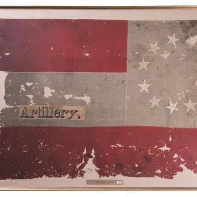 Eleven Star Confederate First National Flag with 'Artillery'