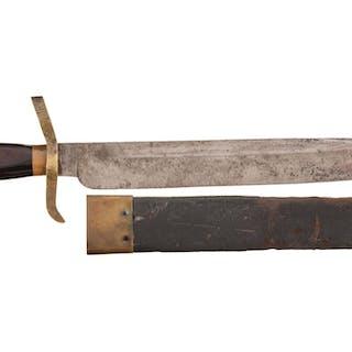 Confederate 'Pike Head/Bayonet' Bowie Knife with Sheath