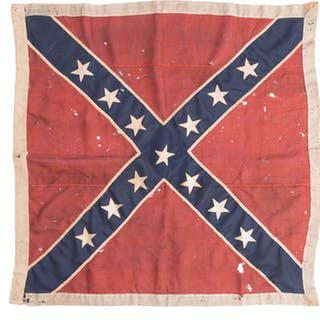 Army of Northern Virginia Confederate Battle Flag w/ Documents