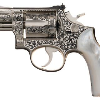Ben Shostle Engraved Smith & Wesson Model 19-3 Revolver