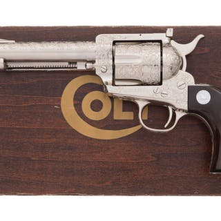 L. Francolini Factory Engraved Colt New Frontier Revolver