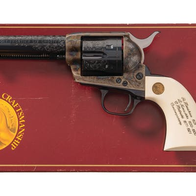 George Spring Factory Engraved Colt Frontier Six Shooter