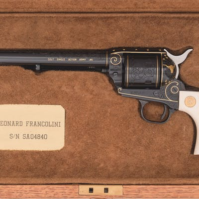 Leonard Francolini Engraved Gold Inlaid Colt Single Action Army