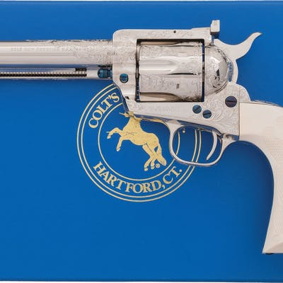 D. Thirion Factory Engraved Colt New Frontier Revolver