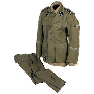 Waffen-SS Artillery Senior NCO Tropical Uniform Set