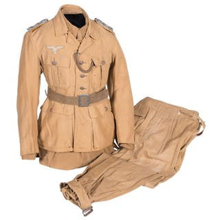 Ramcke Brigade Officer Uniform Set, Tunic, Shirt & Trousers