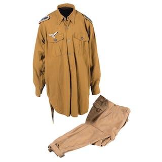 Tropical Uniform Shirt and Trousers for a Luftwaffe Senior NCO