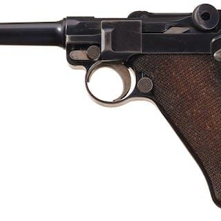 Rare 1902 Commercial DWM 'Fat Barrel' Luger Semi-Auto Pistol