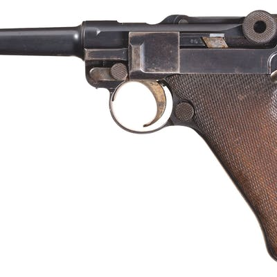 DWM Model 1908 Military 1910 Dated Luger, Holster