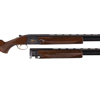 Belgian Browning Midas Grade Superposed Shotgun Two Barrel Set