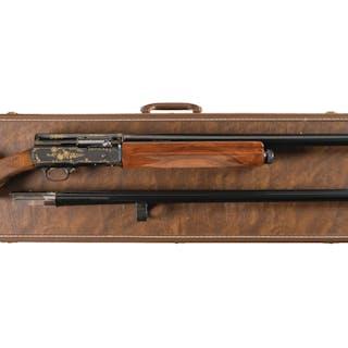 Gold Inlaid Belgian Browning Auto-5 Semi-Automatic Shotgun Set