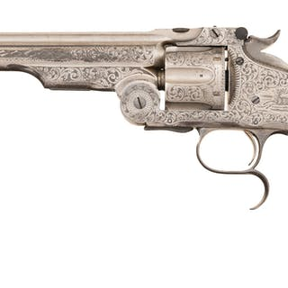 Engraved S&W No. 3 Russian Revovler