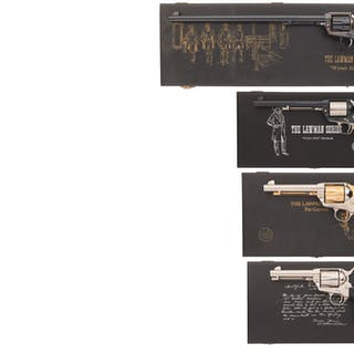 Four Serialized Colt Lawman Series SAA Revolvers