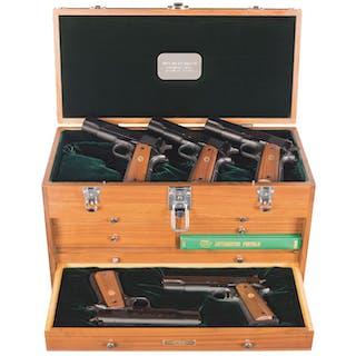 Cased Five Gun Set of Colt 1911 Semi-Automatic Pistols