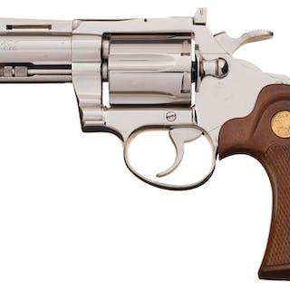 Desirable Nickel Colt Diamondback Double Action Revolver