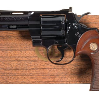 Colt Python Double Action Revolver with Box and Factory Letter
