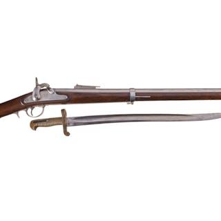 "Whitney U.S. Navy Model 1861 ""Plymouth"" Rifle w/Bayonet"