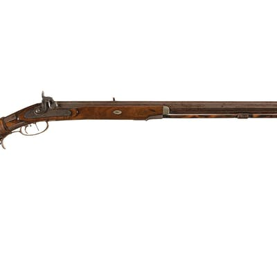 Scarce Engraved J.A. Maltby Half-Stock Percussion Rifle