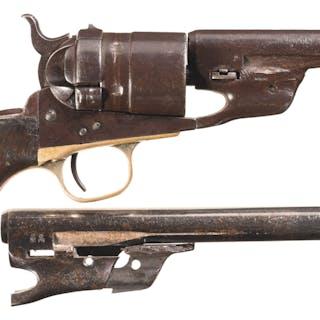 Modified U.S. Colt Model 1860 Army Richards Conversion Revolver