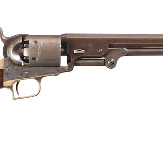 Desirable Colt Second Model Squareback 1851 Navy Revolver