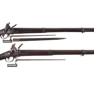 Two U.S. Model 1816 Muskets with Bayonets