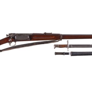 Rare US Springfield Armory Model 1892 Krag Rifle, Bayonet, Sling
