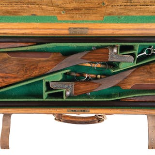 Pair of Westley Richards Double Barrel Shotguns