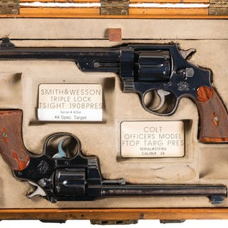 Excellent Colt/S&W Revolver Set,Presented to Charles Winder