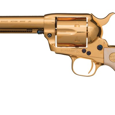Gold Plated Colt Third Generation Single Action Army Revolver