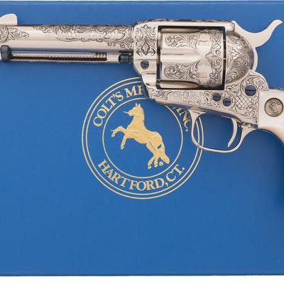 Engraved Colt Third Generation Single Action Army Revolver