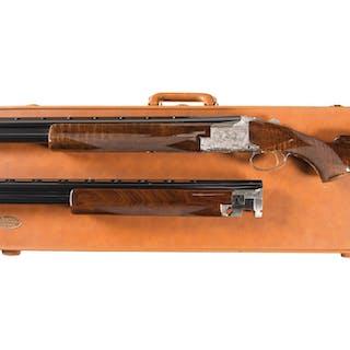 Diana Grade Belgian Browning Superposed Shotgun Two Barrel Set