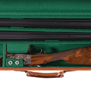 Engraved Winchester Parker Reproduction DHE Grade Shotgun