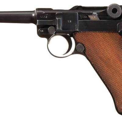 WWII Mauser '1941' Police Luger, 2x Matching Mags, Holster