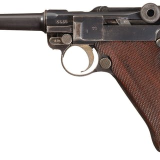 WWI Erfurt 1917 Dated Luger Pistol with Holster, 2 Mags