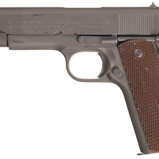 U.S. Colt 1911A1, 1943, Ex. Mag, Holster, USN Service Attributed