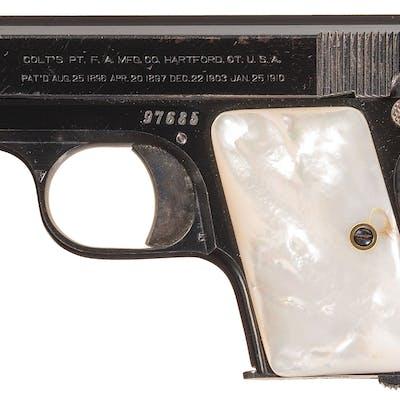 Colt Model 1908 Vest Pocket Pistol with Factory Letter