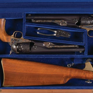 Pair of Colt Model 1860 Army United States Cavalry Revolvers