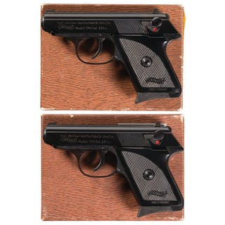 Two Boxed Walther/Interarms TPH Semi-Automatic Pistols