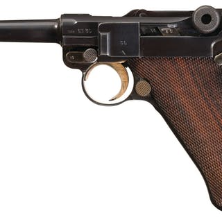 Scarce 1938 Mauser Banner Commercial Contract Luger in 7.65mm