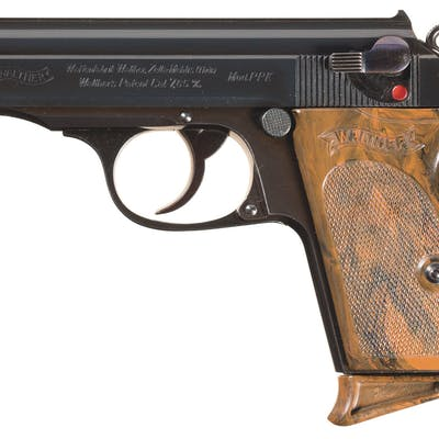 Excellent Walther PPK Pistol w/Rare Night Sight