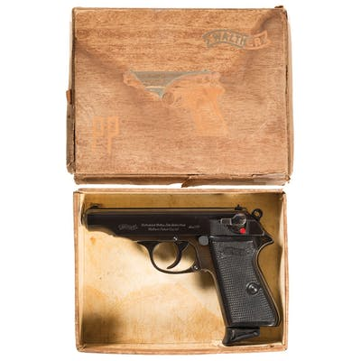 Excellent Walther PP 22 LR Pistol with Case and Box